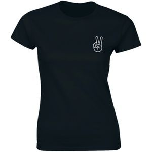 Half It Tops - Peace Sign Fingers Hand Sign Peace Symbol T-shirt